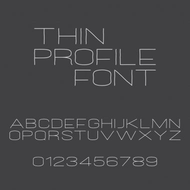 Set of stylish, alphabet letters and numbers isolated on gray background. vector contemporary, bold font type