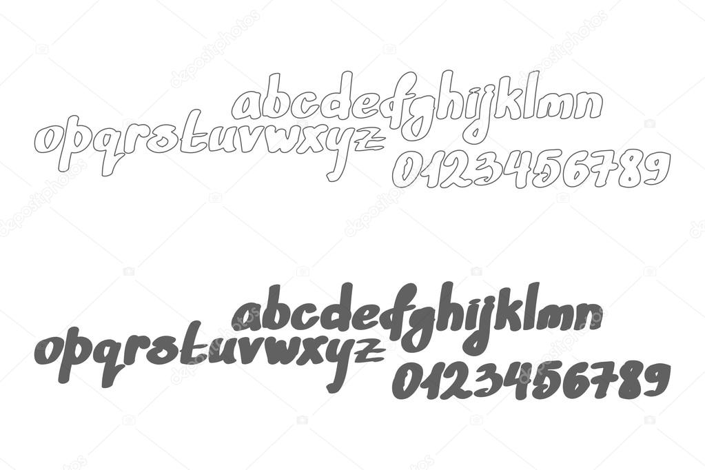 Set Of Cursive Alphabet Letters Isolated On White Background Vector