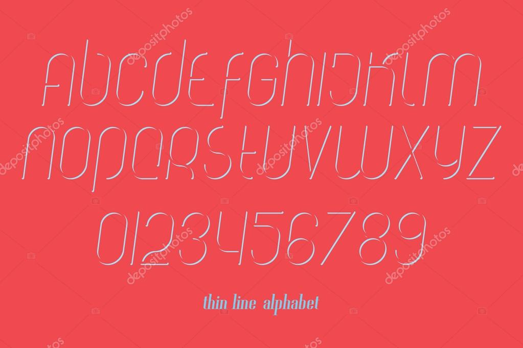 Set of stylish isolated alphabet letters and numbers vector