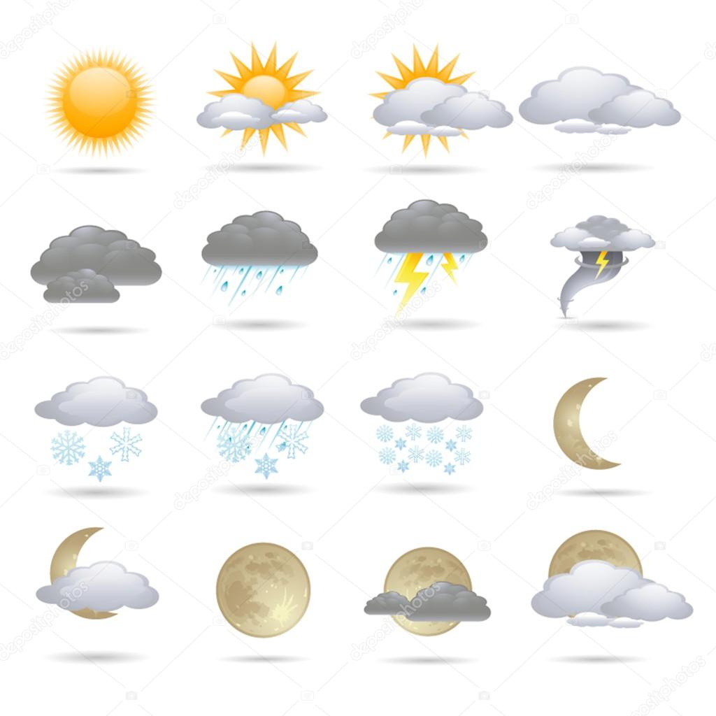 Meteorology Icons Set; Vector Illustration