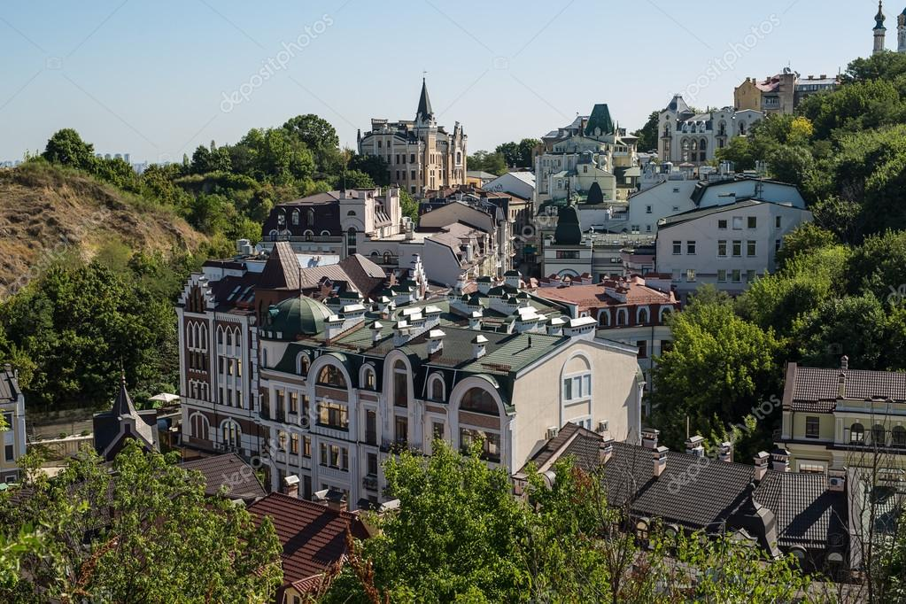 Cityscape of the old Kiev