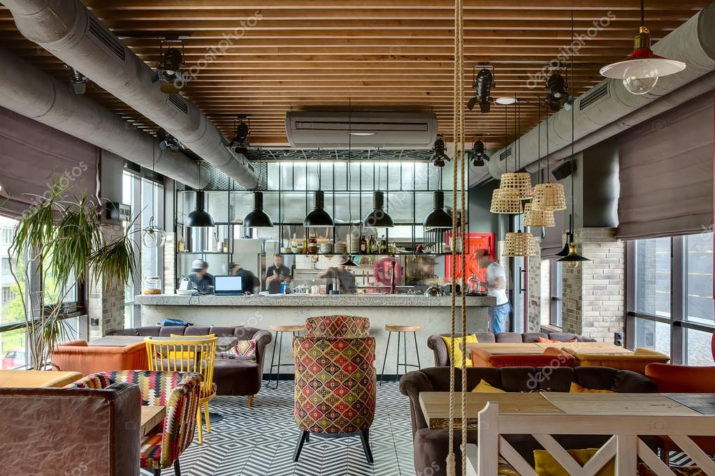 Restaurant mit offener Küche — Stockfoto © bezikus #111746762