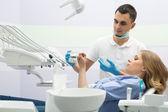 Fotografie Zahnarzt und patient