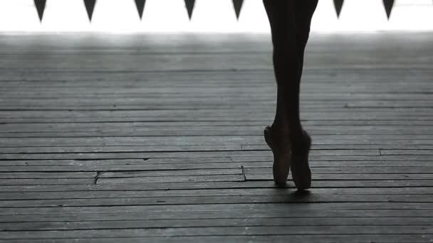 Video záběry elegantní baletka taneční nohy