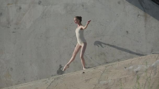 Video footage of the young graceful ballerina who dances