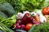 Hintergrund von frischem Gemüse