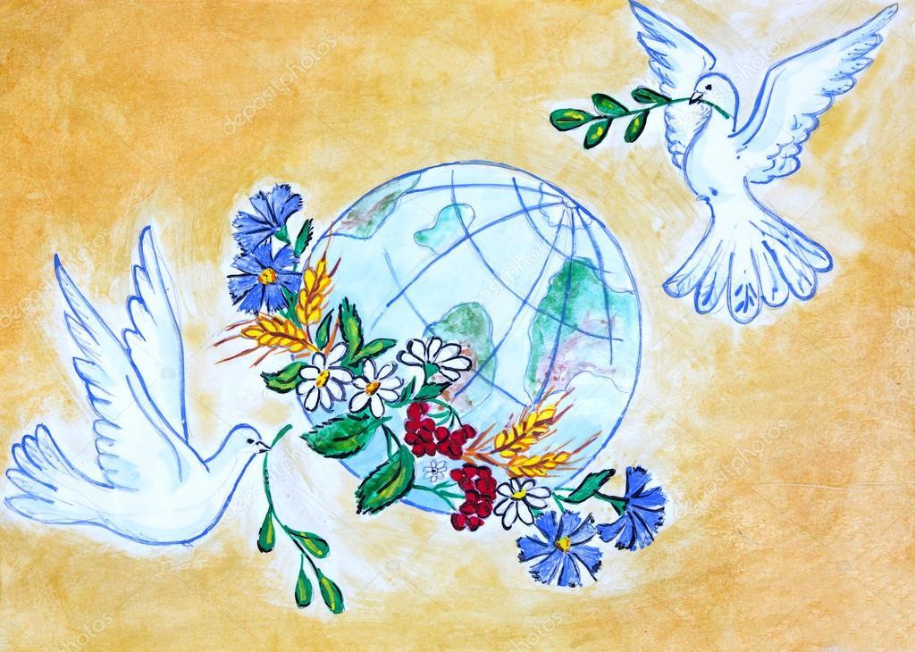 Открытки про мир на земле, днем дружбы картинки