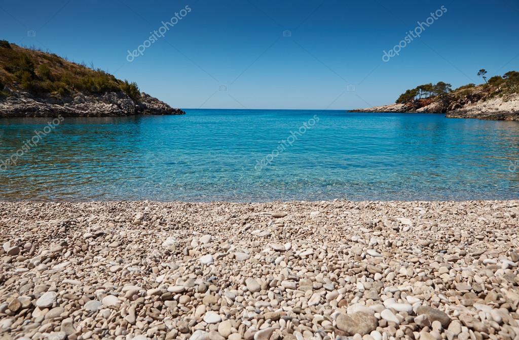 Beach in the Adriatic Sea on the Hvar