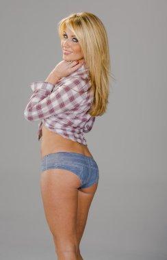 Blonde Country Girl Model