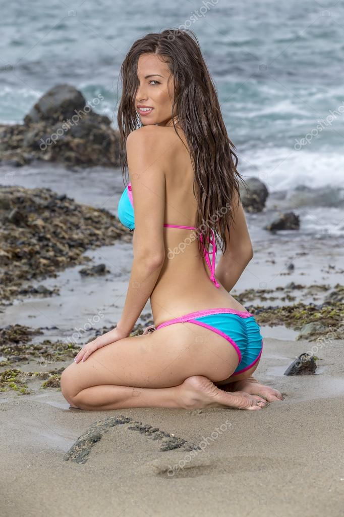 En Playa Una Modelo BikiniDe JcK1Fl