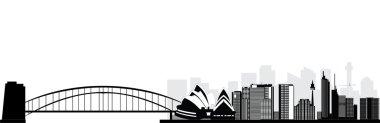 Sydney skyline isolated silhouette