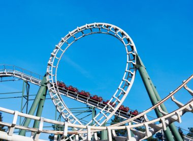 roller coaster on amusement park in holland