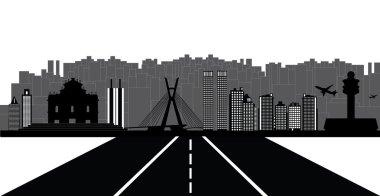 Sao Paulo city skyline