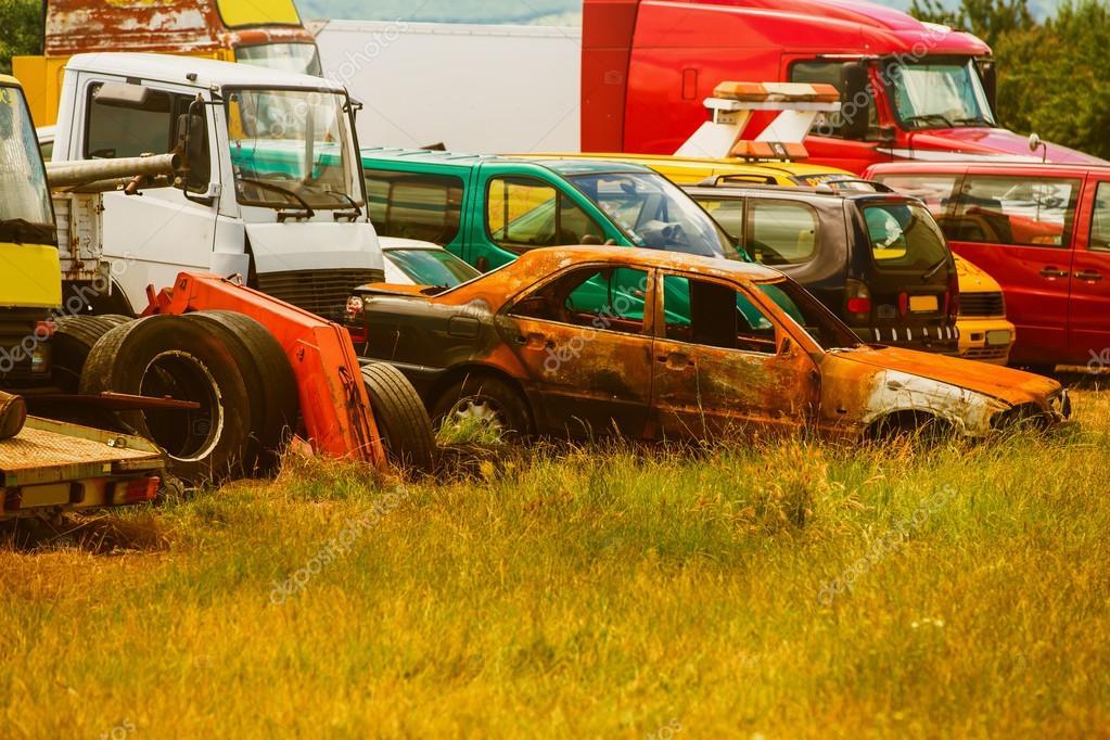 Eski Arabalar Araba Mezarlığı Stok Foto Kirillgrekov 113872076