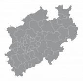 Karte der Kreise Nordrhein-Westfalen
