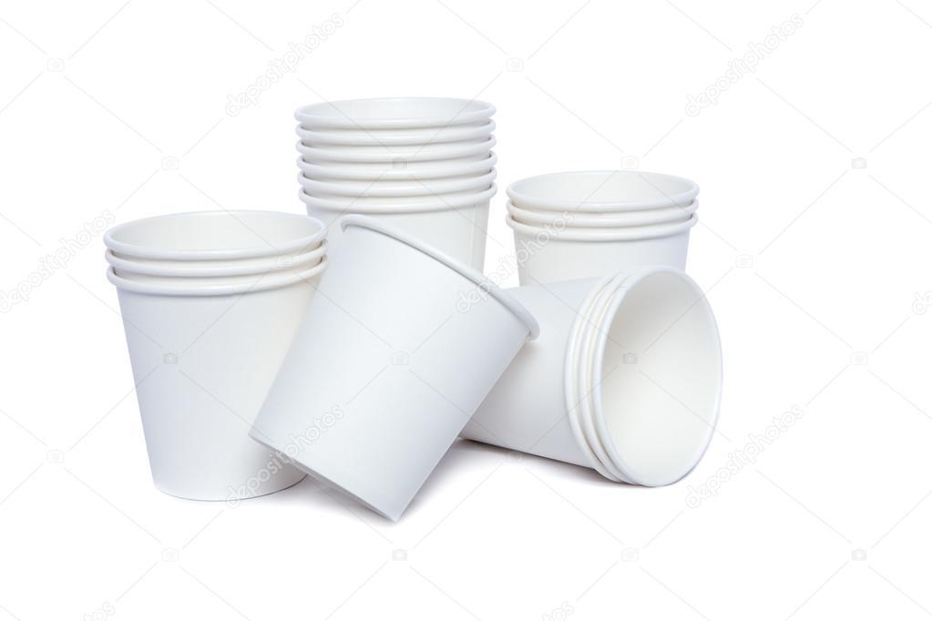 vasos cartón para bebidas calientes y frías — Foto de stock ...