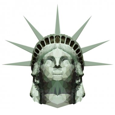 Polygonal Statue of Liberty Head