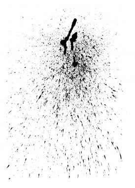 Abstract vector ink splatter for Your grunge design