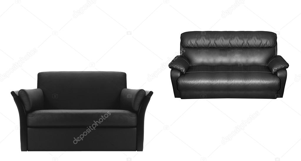 Zwarte lederen fauteuil u stockfoto ozaiachinn