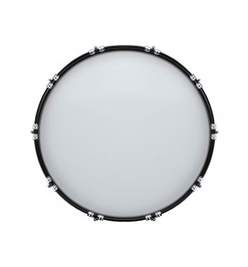 Bass drum isolated on white background