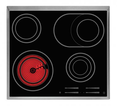 Top view of electrical hob