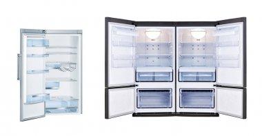 Refrigerators with open doors