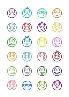 24 smiles icons set 3