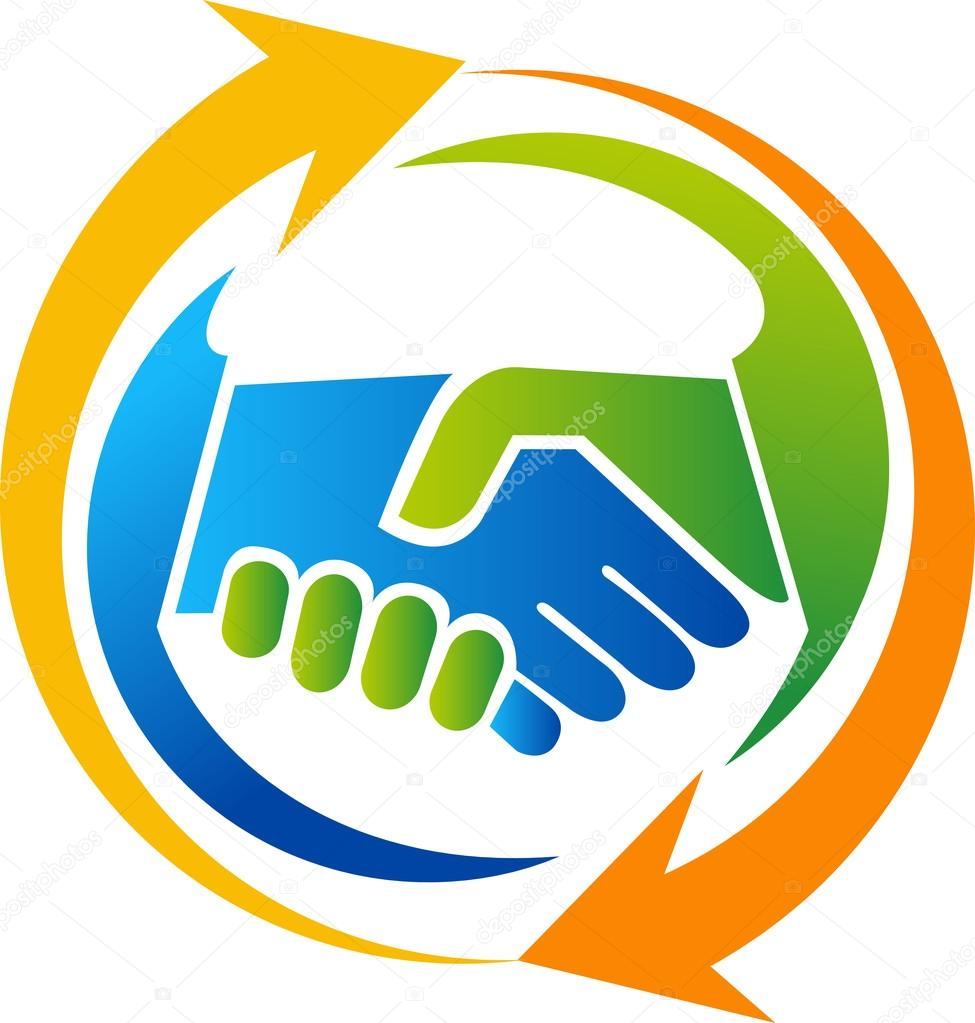 handshake logo design � stock vector 169 magagraphics 101574798