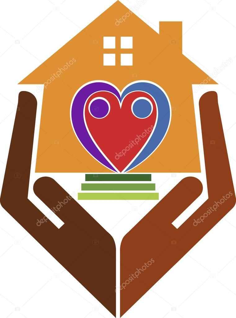 Logotipo de cuidado de casa archivo im genes vectoriales - Cuidados paliativos en casa ...