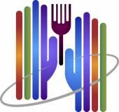 Hand fork logo