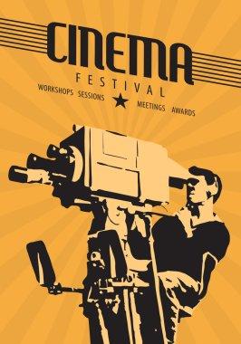 film festival poster template.