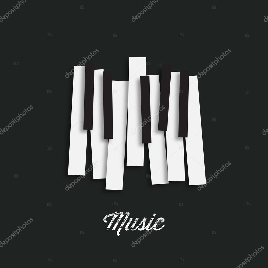 Teclado de piano de música — Vector de stock © archiwiz #94604144