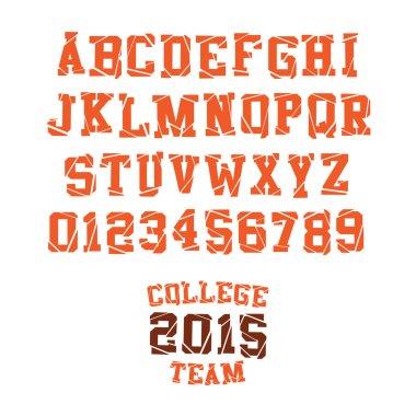 Slab serif headline alphabet