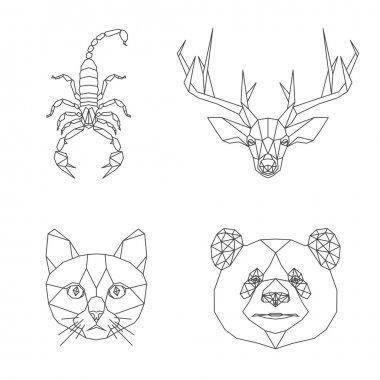 geometric animals set