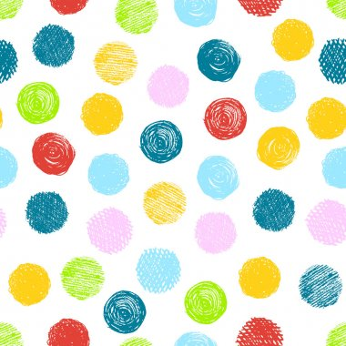 Seamless pattern with scribble dots