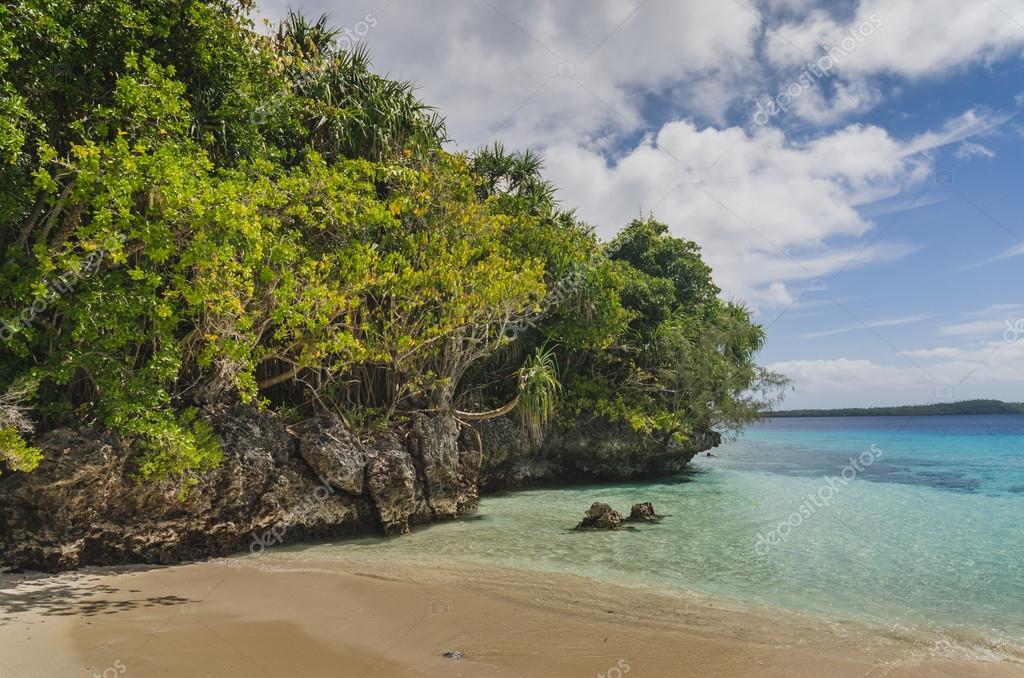 White sand beaches in the kingdom of Tonga