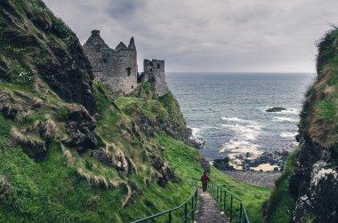 Medieval castle on the seaside, Ireland