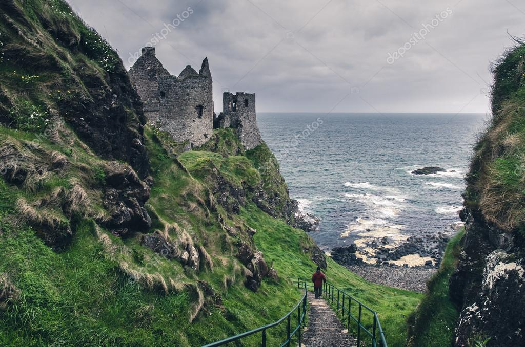 Medieval castle on the seaside, Ireland