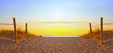 Beach sunrise or sunset