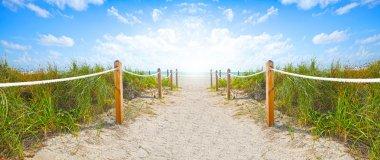 Miami Beach path to the ocean