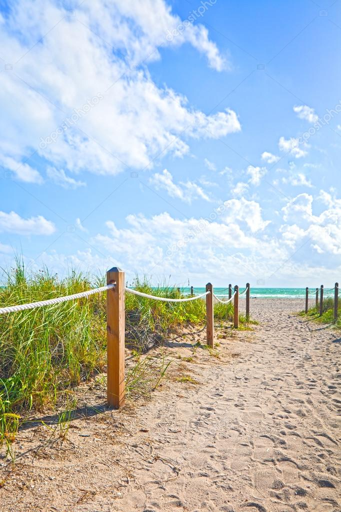 Miami Beach path to the ocean