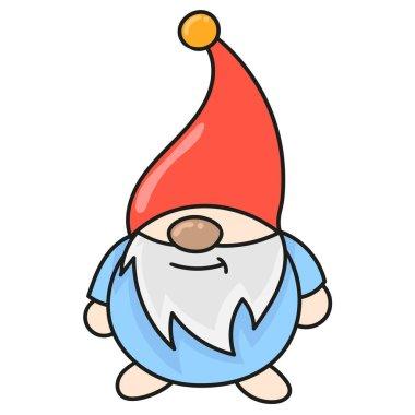 Old dwarf fantasy creature. doodle icon image icon