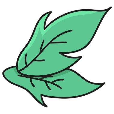 Spring foliage. doodle icon image icon