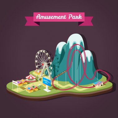 Amusement Park with different attractions