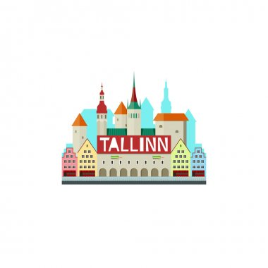 Tallinn Estonia with city hall