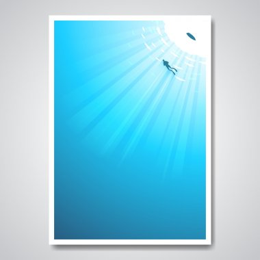 poster with diver in  sea