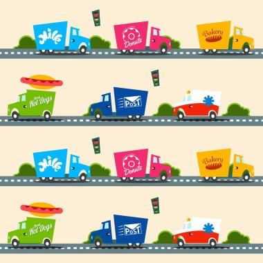 Urban cargo trucks  pattern