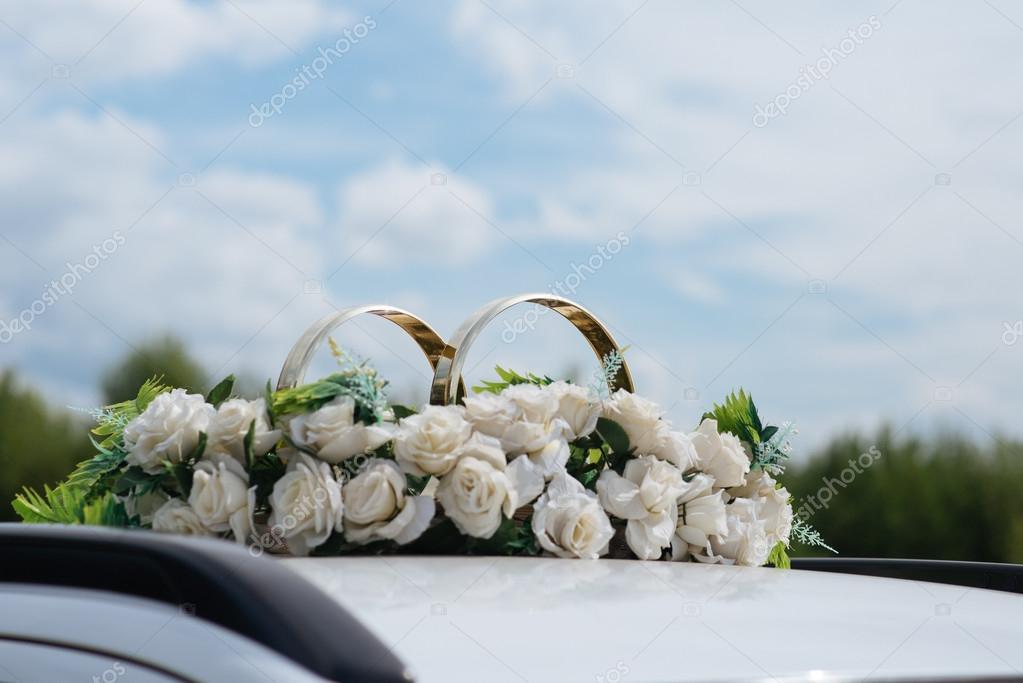 Auto Dekor Blumen Hochzeitsstrauss Stockfoto C Mupy 102578724