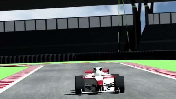 Závodní auto na dostihovou dráhu