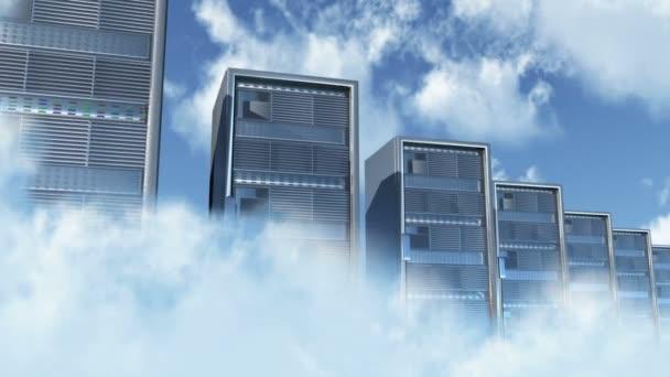 Cloud Servers Computing Creative Concept